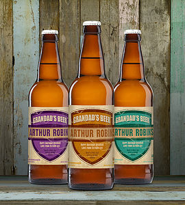 Personalised Set Of Three Beers For Grandad Or Dad - food gifts
