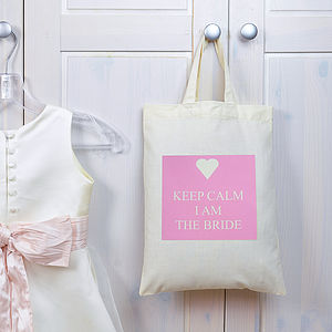 Personalised Keep Calm 'Bride' Bag