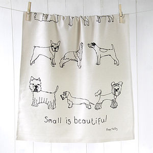 Tea Towel Small Dogs - kitchen accessories