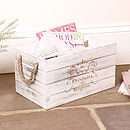 Personalised Antique Ivory French Storage Crate