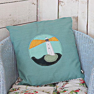 Embroidered Cushion Lighthouse - cushions