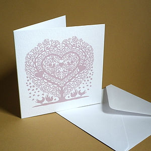 Wedding And Engagement Heart Card - anniversary cards