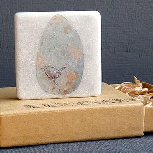 Bird's Egg Marble Tile Magnet In Blue - kitchen