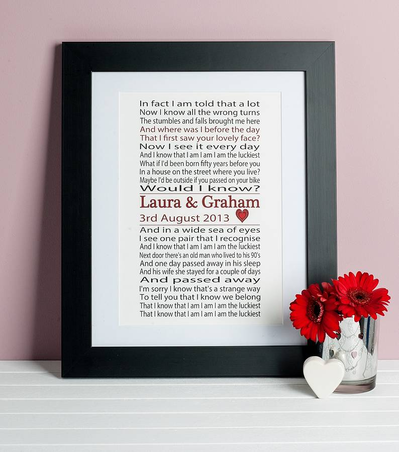 Song Lyrics Print By Lisa Marie Designs
