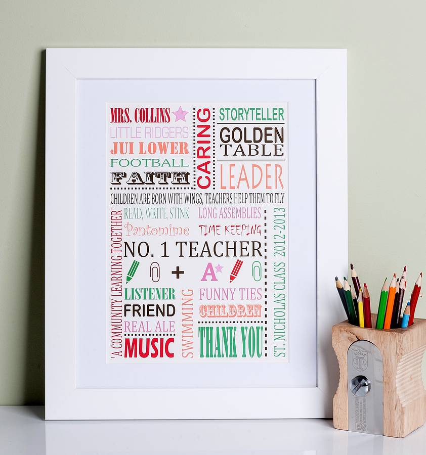 personalised thank you teacher print - Teacher Pictures To Print