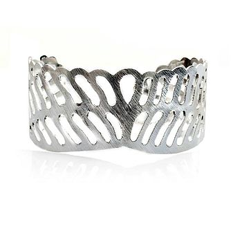 Sterling Silver Rapture Winged Cuff