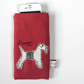 Embroidered Phone Case Dog