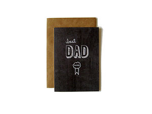 'Best Dad Award' Chalkboard Card