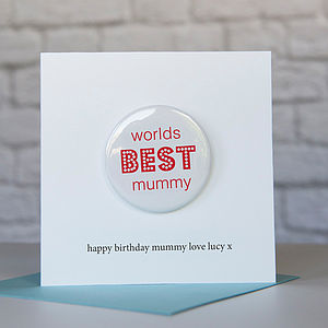 Personalised Worlds Best Mummy Birthday Card - birthday cards