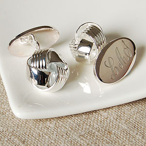 Classic Knot Cufflinks - wedding jewellery