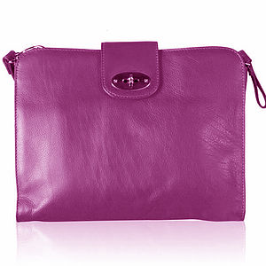 Soft Leather Clutch Bag - women's accessories