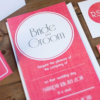 Contemporary Wedding Stationery Wimbledon Strawberries and Cream Invite
