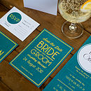 Contemporary Wedding Stationery Wimbledon Emerald Invite