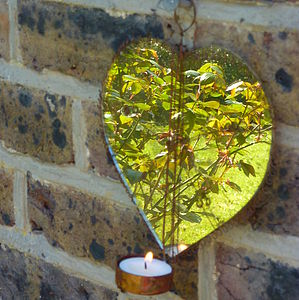 Hetty Mirrored Wall Hanging Tea Light Holder - lighting