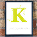 Personalised Baby Monogram Framed Print