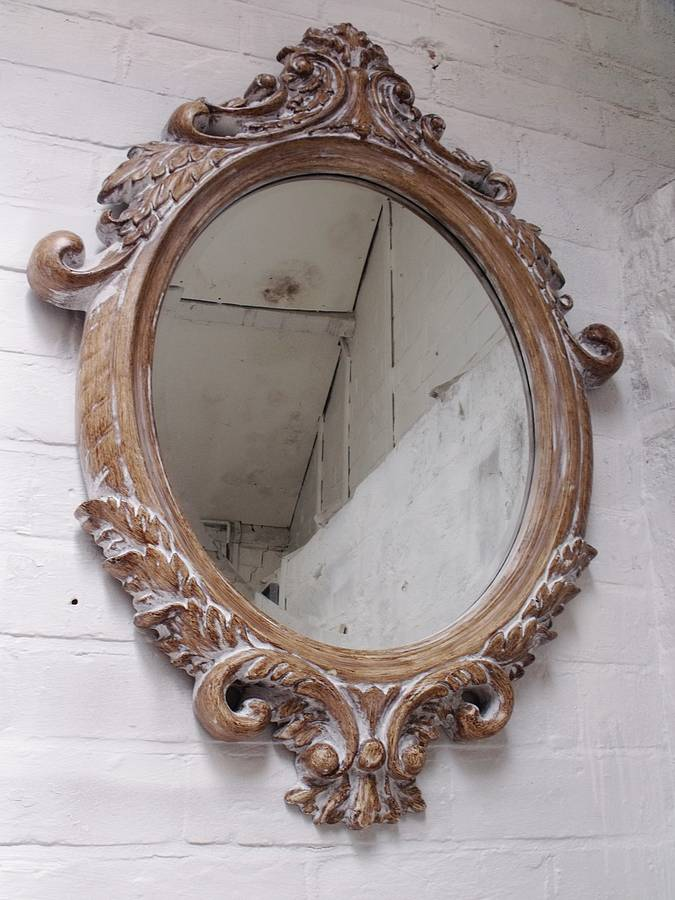 Oval Bevelled Ornate Mirror By Hand Crafted Mirrors