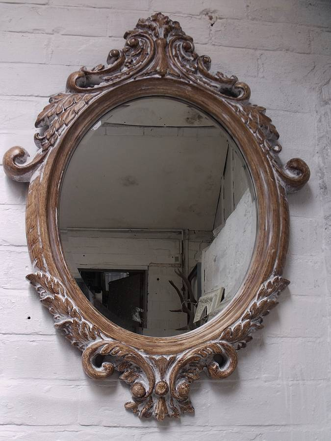 oval bevelled ornate mirror by hand crafted mirrors ...