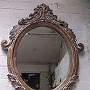Oval Bevelled Ornate Mirror
