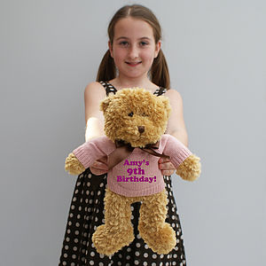 Personalised 'It's Your Birthday' Bear - soft toys & dolls
