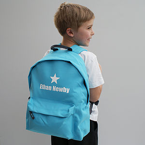 Personalised Colourful Children's Backpack