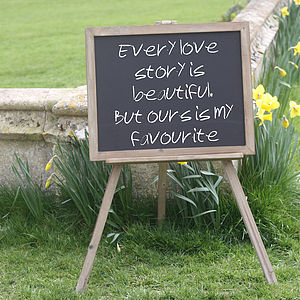 Blackboard Easel Wedding Sign / Noticeboard - outdoor decorations