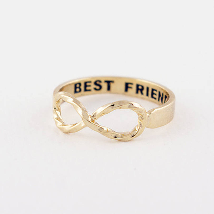 Best Friends Infinity Ring By Junk Jewels