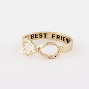 Best Friends Infinity Ring - stocking fillers for her