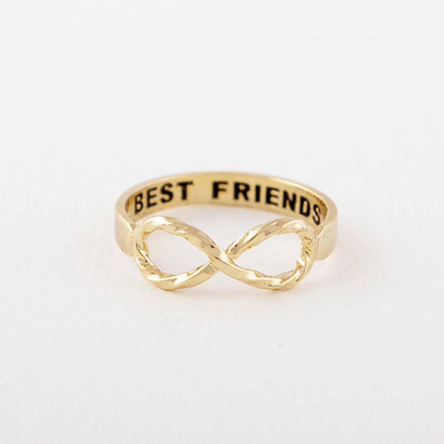 Best Friends Infinity Ring By Junk Jewels Notonthehighstreet Com