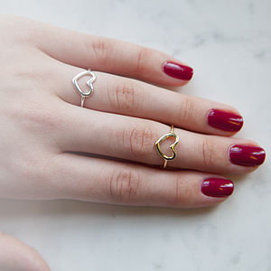 Open Heart Ring - gifts for her