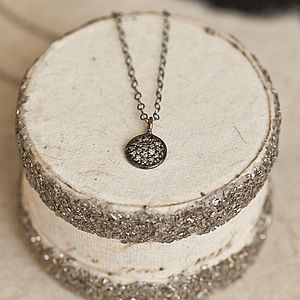 Pave Diamond Silver Pendant - women's jewellery