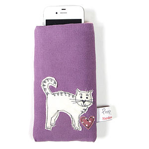 Embroidered Phone Case Cat