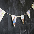 Fun Handpainted Wooden Bunting