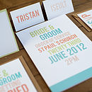 Contemporary Wedding Stationery Embankment Invite Sea Greens