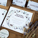 Contemporary Wedding Stationery Henley Invite Mulberry