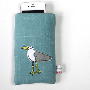 Embroidered Phone Case Seagull