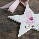 personalised wood star for a little girl