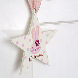 Girls Rabbit Name Sign - door plaques & signs
