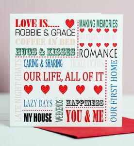 Love Is Couples Card