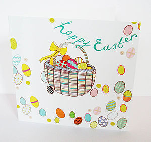 'Easter Basket' Easter Card