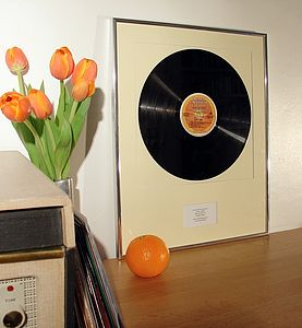 Your Favourite Album Framed: Original Vinyl Record - mixed media & collage