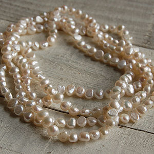 Freeform Pearl Rope Necklace - necklaces & pendants