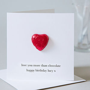Birthday Card With Chocolate Heart