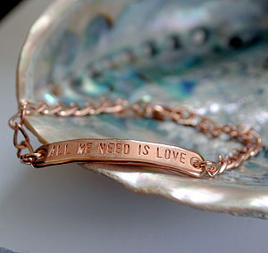 All We Need Is Love Rose Gold Bracelet - men's jewellery