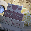 Mr & Mrs Wedding Blocks Personalised