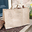 Au Natural Jute Log And Storage Bag