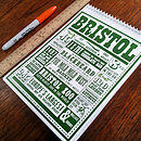 Bristol Facts A5 Note Pad