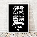 Personalised Retro Cafe Print