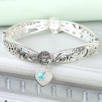 Turquoise with Heart Charm