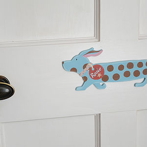 Child's Personalised Dog Shape Door Plaque - pet-lover