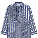 Mens Nightshirt- Dark Blue Stripe